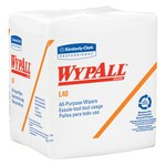 Kimberly-Clark Wypall L40 White DRC Wiper - 1/4 Fold - Box - 56 units per pack - 12.5 in Overall Length - 12 in Width - 05600