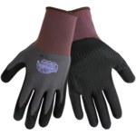 Global Glove Tsunami Grip 500NFTD Black/Gray 9 Nylon Work Gloves - Nitrile Foam Dotted Palm & Fingers Coating - 500NFTD/9