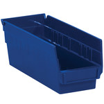 Blue Shelf Bins - 11.625 in x 4.125 in x 4 in - SHP-3096