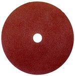 Weiler Coated Aluminum Oxide Fiber Disc - Fiber Backing - 80 Grit - Medium - 7 in Diameter - 7/8 in Center Hole - 59527