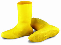 Dunlop 97591 Yellow Large Waterproof & Rain Overboots/Overshoes - 12 in Height - Latex Upper - 791079-11877