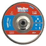 Weiler Vortec Pro Non-Woven Type 29 Zirconium Flap Disc - 80 Grit - Medium - 7 in Diameter - 5/8 in Center Hole - 31334