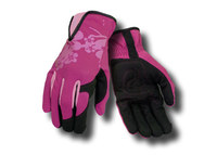 Ansell Projex Inspire 97-981 Pink Large Spandex Work Gloves - Leather Palm Coating - 104895