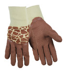 Red Steer Zoohands 294G Brown Cotton/Knit General Purpose Gloves - Latex Palm Only Coating