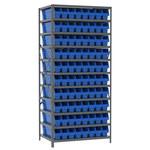 Akro-Mils Fixed Blue Gray Steel 22 ga Open Fixed Shelving - 80 - AS2479044