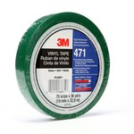 3M 471 Green Marking Tape - 1 in Width x 36 yd Length - 5.2 mil Thick - 07234