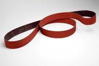 3M Cubitron II 947A Coated Ceramic Orange Sanding Belt - Cloth Backing - X Weight - 80 Grit - Medium - 1/4 in Width x 24 in Length - 94701