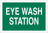 Brady B-302 Polyester Rectangle Green Eyewash Sign - 10 in Width x 7 in Height - Laminated - 85354