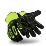HexArmor Hex1 2125 Black/Yellow 9 Goatskin Leather Work Gloves - 2125 SZ 9