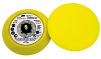 3M Hookit 05775 Medium Yellow Disc Pad - 5 in DIA - 3/4 in Thick - External Thread Attachment