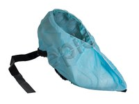 Epic Black/Blue Large Cleanroom Shoe Covers - ISO Class 7 Rating - Polypropylene Upper - 16.5 in Sole Length - 544783-L