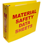 Brady Red on Yellow MSDS & GHS Data Sheet Binder - MATERIAL SAFETY DATA SHEETS - English - 754476-45991
