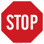 Brady B-120 Fiberglass Reinforced Polyester Octagon Red Stop Signs, Traffic Control Signs & Banners Sign - 18 in Width x 18 in Height - 75205