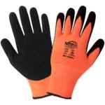 Global Glove Tsunami Grip 801 HV Orange XL Work Gloves - Nitrile Palm & Fingers Coating - 801-10(XL)