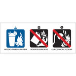 Brady 76299 Black / Blue on White Acrylic Fire Extinguisher Label - 5 in Width - 2 in Height - B-927