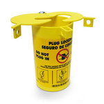 Brady Prinzing Yellow Thermoplastic Elastomer Electrical Plug Lockout PLO23 - 3.47 in Width - 6.25 in Height - 754476-45842