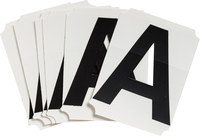 Brady Quik-Align 8215-A Black Vinyl Letter Label - Outdoor - 3 in Height - 3 in Character Height - B-933