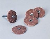 Standard Abrasives 724769 A/O Aluminum Oxide AO Slotted Cloth Disc - Threaded Arbor Attachment - 1 in Diameter - 41442
