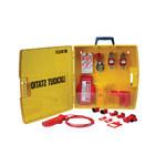 Brady Black/Yellow Polypropylene Lockout Device Station - 17 in Width - 17 in Height - 754476-03462