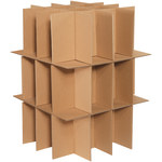 Shipping Supply Kraft Dish Pack Partition Kit - SHP-2179