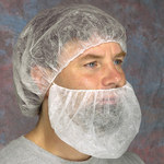 West Chester White Universal Polypropylene Bouffant Cap - 24 in Stretched Diameter - 662909-802200