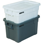 """Brute Totes with Lid, 28"""" x 18"""" x 11"""" Gray - 1 EACH PER CASE"""