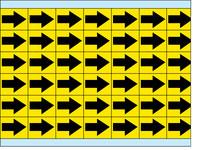 Brady EIA-3025-YL Yellow on Black Vinyl Cloth Printed Inspection Arrow - 0.3 in Width - 1/4 in Height - B-500