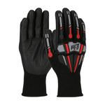 PIP G-Tek GP 34-MP150 Black Large Nylon Work Gloves - Nitrile Palm & Fingers Coating - 34-MP150/L