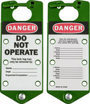 Brady Green Anodized Aluminum Lockout/Tagout Hasp 65963 - 3 in Width - 7 1/4 in Height - 6 Padlock Capacity - 754476-65963