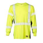 ML Kishigo Premium Black Series Lime Large Flame-Resistant Shirt - Long Sleeve - MLK F406 LG