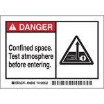 Brady 86898 Black / Red on White Rectangle Polyester Hazardous Area Label - 5 in Width - 3 1/2 in Height - B-302