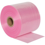 Pink Anti Static Poly Tubing - 8 in x 2150 ft - 2 Mil Thick - SHP-6342