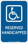 Brady B-555 Aluminum Rectangle Blue Disabled Parking & Building Access Sign - 12 in Width x 18 in Height - 127452