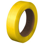 "Yellow 6"" Core Hand Grade Polypropylene Strapping - Embossed - 0.5 in x 7200 ft - SHP-7217"