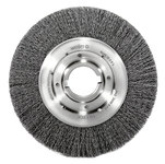 Weiler Steel Wheel Brush 0.02 in Bristle Diameter - Arbor Attachment - 10 in Outside Diameter - 2 in Center Hole Size - 06170