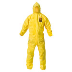 Kimberly-Clark Kleenguard A70 Yellow Large Polyethylene/Polypropylene Disposable Chemical-Resistant Coveralls - 036000-09813