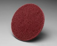 3M Scotch-Brite HS-DS Non-Woven Aluminum Oxide Maroon Quick Change Disc - Very Fine - 3 in Diameter - 15912
