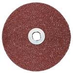3M Cubitron 983C Coated Ceramic Brown Quick Change Disc - Fiber Backing - 80 Grit - Medium - 5 in Diameter - 12666
