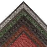 Notrax Arrow Trax 118 Charcoal Indoor Blended Yarn Carpeted Entry Mat - 3 ft Width - 2 ft Length - Vinyl Backing Material - 118 2 X 3 CH
