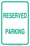Brady B-120 Fiberglass Reinforced Polyester Rectangle White Parking Restriction, Permission & Information Sign - 12 in Width x 18 in Height - 75269