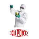Dupont White Large Tyvek Isoclean Reusable General Purpose & Work Lab Coat - 3 Pockets - Fits 36 to 38 in Chest - 43 1/2 in Length - IC224SWHLG00300B