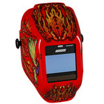 Jackson Safety Flaming Butterfly Welding Helmet - Auto-Darkening Lens - 3.93 in Viewing Width - 2.36 in Viewing Height - 036000-46109