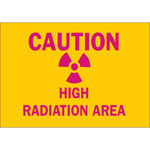 Brady B-401 Polystyrene Rectangle Yellow Radiation Hazard Sign - 10 in Width x 7 in Height - 25270