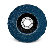 3M 566A Coated Type 27 Alumina Zirconia Flap Disc - 80 Grit - Medium - 4 1/2 in Diameter - 55364