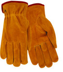 Red Steer 55170 Brown Large Cowhide Suede Leather Driver's Gloves - Keystone Thumb - 55170-L