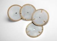 3M 605Y Diamond 1A1R Cutoff Wheel - 40 Grit Coarse Grade - 4 in Diameter - 3/8 in Center Hole - 0.104 in Thickness - 90638