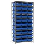 Akro-Mils Fixed Blue Gray Steel 22 ga Open Fixed Shelving - 30 - AS2479014