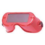 Jackson Safety V100 WR Polycarbonate Standard Welding Goggles - Red Frame - Non-Vented - Rigid Frame - 024886-05456