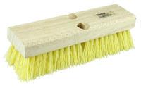 Weiler 444 Rectangular Scrub Brush - Hardwood Handle - Polypropylene Bristle - Hardwood Block - 10 in Overall Length - 44434