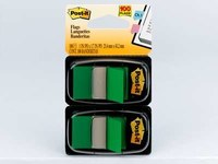 3M Post-it Green Label flags - 1.7 in Overall Length - 1 in Width - 50 per Dispenser Sheets - 69092